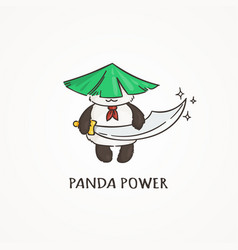 power panda with a saber sword wildlife ecology vector image vector image