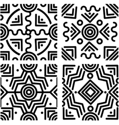Seamless geometric backgrounds vector image vector image