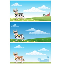 Dairy farm vector