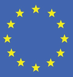 eu flag in colorful vector image