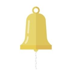 Golden ship bell vector image