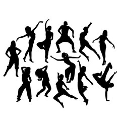 modern dancer expressive silhouette vector image