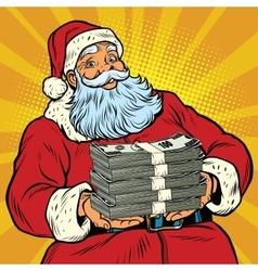 Santa Claus with money vector image