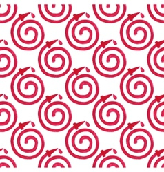 Watercolor seamless pattern with fire hose on the vector image