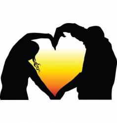 heart shaped vector image