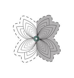 lily flower decoration monochrome vector image