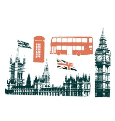 london grunge vector image vector image