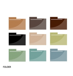 Set of File Folder Icons On White Background vector image vector image
