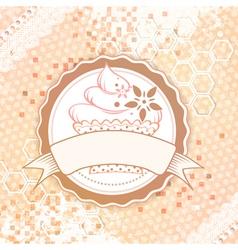 Vintage Cake Design vector image