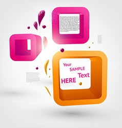 3d abstract boxes for design vector