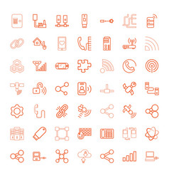 49 connection icons vector image