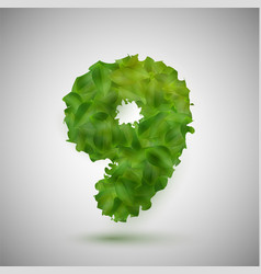 a number made by leaves vector image