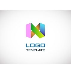 abstract colorull origami logo template vector image