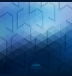 Abstract geometric technological blue background vector