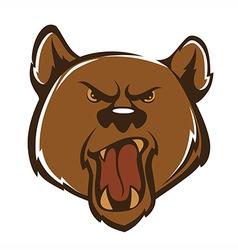 aggressive bear vector image