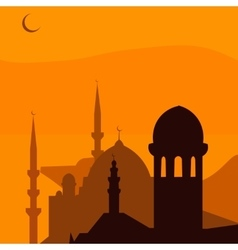 Animated magic Turkish city Istanbul Ramadan vector image