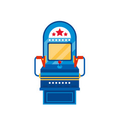 arcade game machine retro casino slot machine vector image
