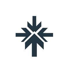 Arrow intersection concept logotype template vector