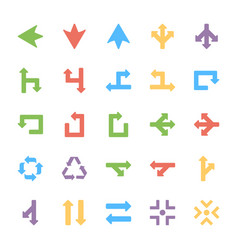 Arrows colored set vector
