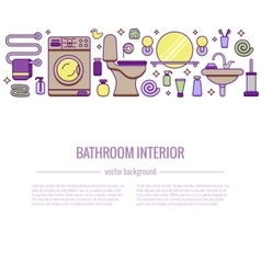 BATHROOM-END Bath equipment colorful concept vector