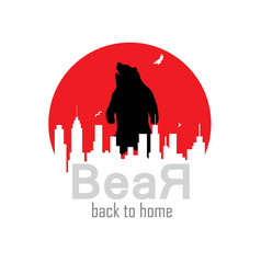 bear back to home vector image