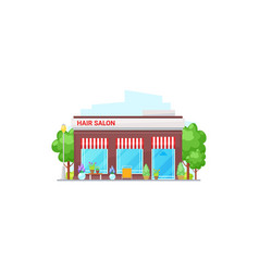 beauty house isolated hair salon building vector image