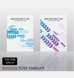 blue arrow pattern template set vector image