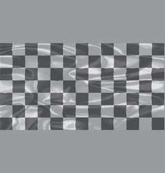 Chequered silk flag vector