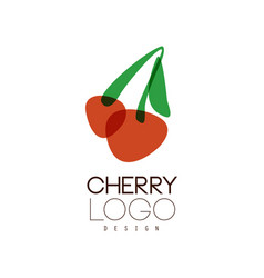 cherry logo design creative template can be used vector image