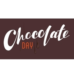 Chocolate Day lettering text vector