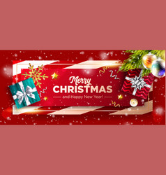 christmas background xmas 2020 horizontal poster vector image