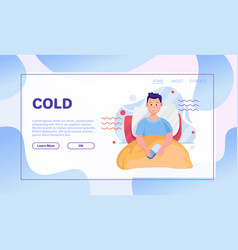 common cold flat vector image