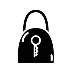 Contour padlock security tool service vector