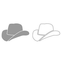 Cowboy hat it is black icon vector