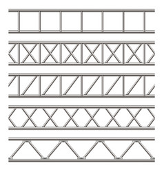 Creative of steel truss girder vector