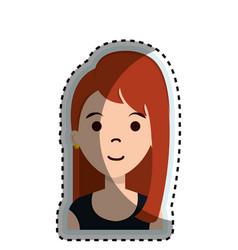 Cute businesswoman avatar character vector