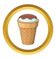 Delicious ice cream icon vector
