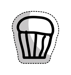 Delicious sweet cupcake icon vector