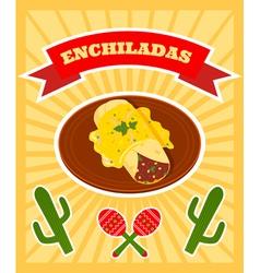 enchiladas poster vector image