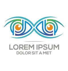 Eyes logo design elegant optic vector