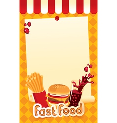 Fast-food menu vector