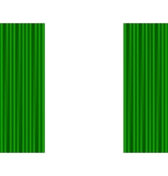 Green curtains on a white background vector