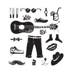 Hipster Clothing and Accessories Collection vector