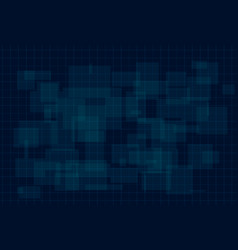 hud dark blue background with thin grid and dots vector image