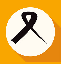 icon ribbon on white circle with a long shadow vector image