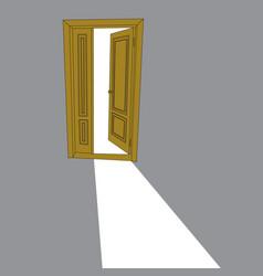 image of the open door vector image