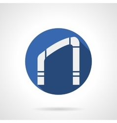 Interior arch element blue round icon vector