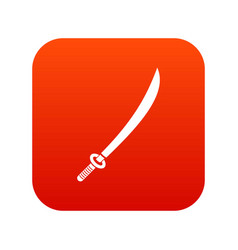 Katana icon digital red vector