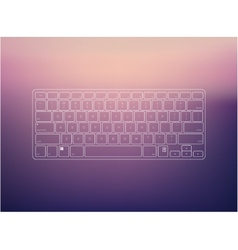 keyboard vector image