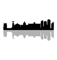 Lisbon skyline vector